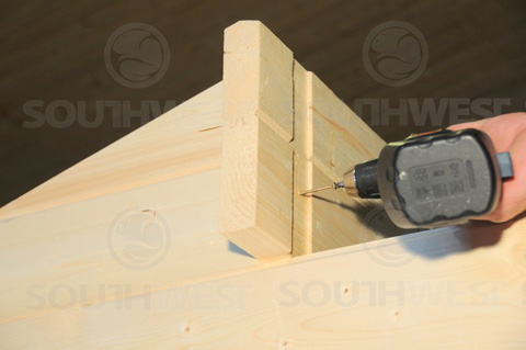 Secure the roof beams
