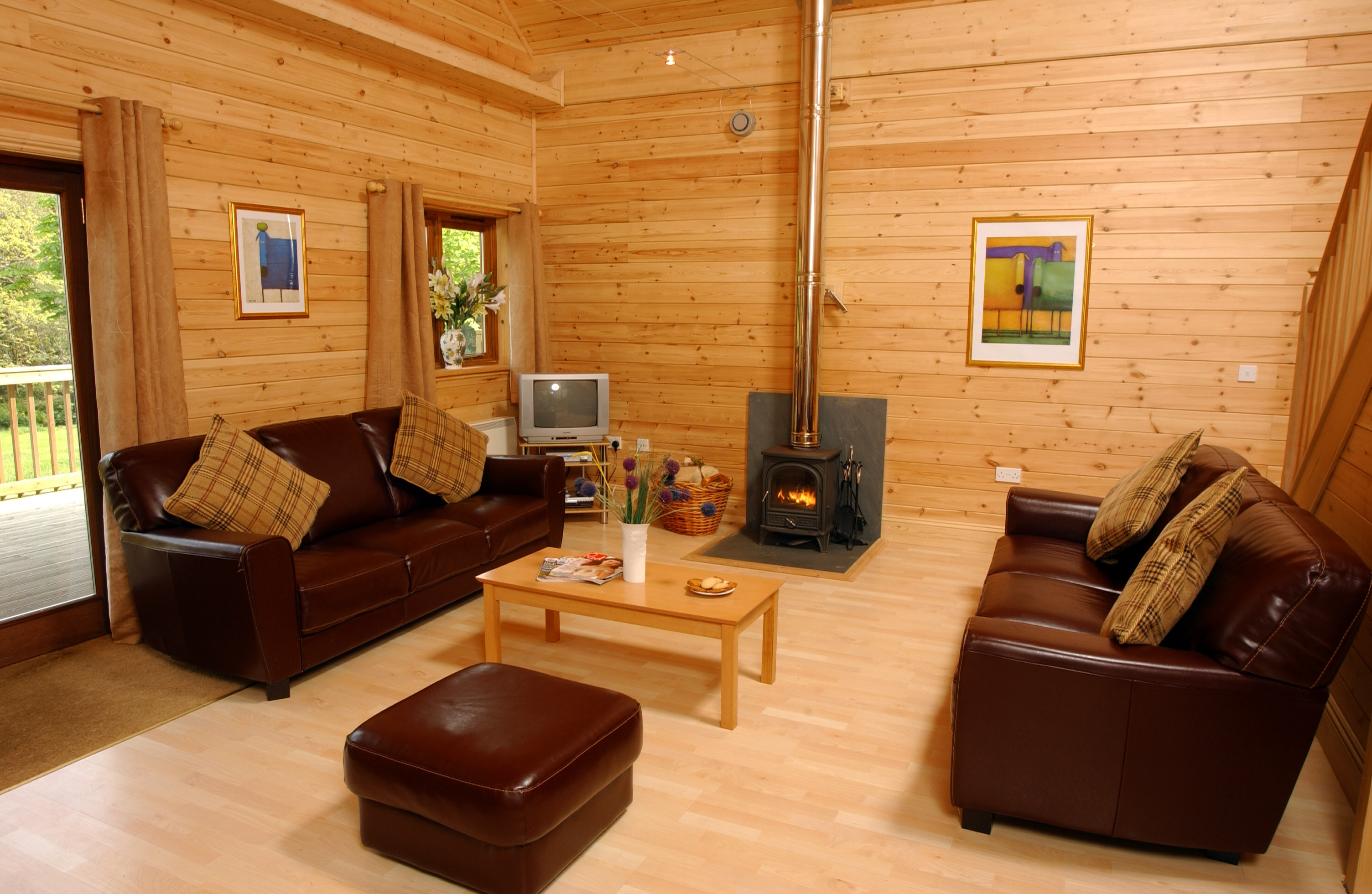 Log cabins are beautiful inside  South West Log Cabins