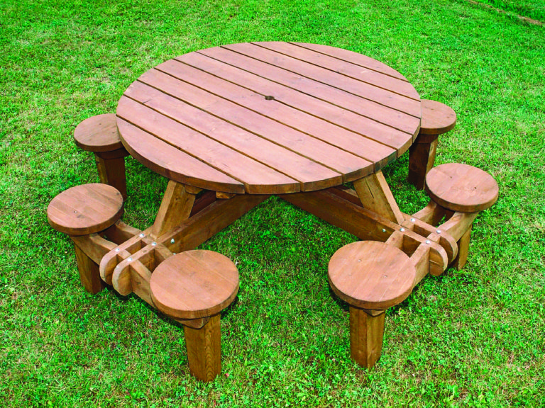 8 seat roundabout table