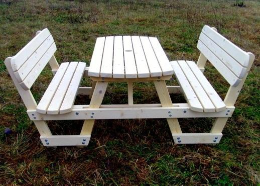 6 seat picnic bench with backrest