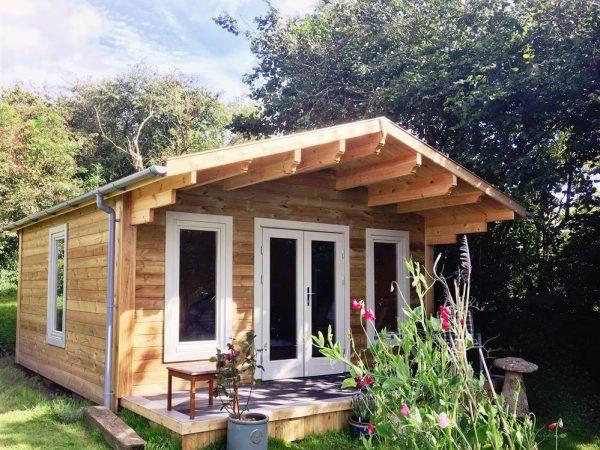 Garden log cabin, Bodmin, Cornwall